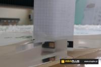 Frezowanie PMMA, pleksi, pleksa, plexa, akryl 21mm - ABA Plus