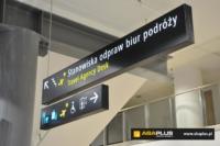 Oznakowanie kierunkowe lotniska w Łodzi ABA Plus