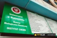 Tablica informacyjna Uniwersytet w Białymstoku - ABA Plus
