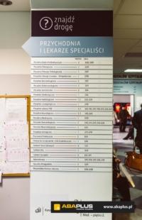 Tablica informacyjna szpital - Aba Plus