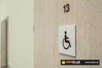 Oznakowanie toalety dla niepełnosprawnych - ABA Plus