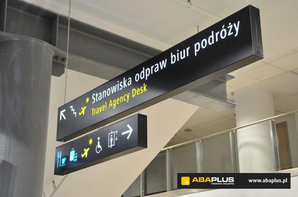 Oznakowania lotniska w Łodzi ABA Plus