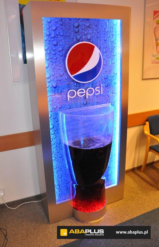 Waterwall Display Pepsi ścianka wodna termoformowanie Aba Plus